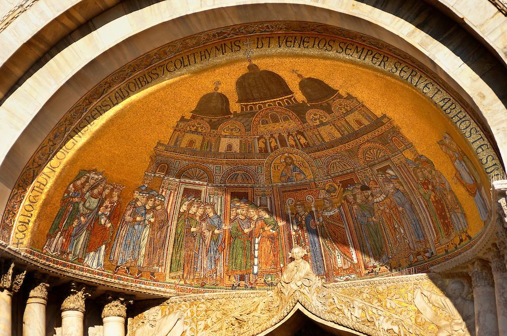 Translation Of The Body Of St Mark Mosaic into Saint Marks  Basilica - Venice