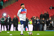 England Midfielder Alex Oxlade-Chamberlain (7) warms up ahead of the Friendly match between England and Italy at Wembley Stadium, London, England on 27 March 2018. Picture by Stephen Wright.