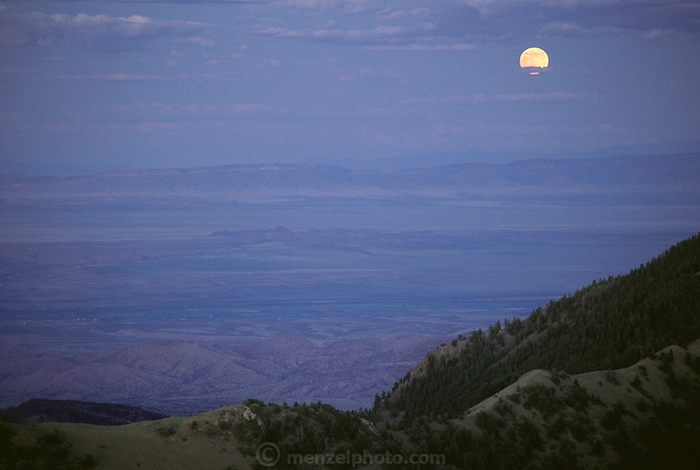 Weather: Moonrise. View from Langmuir Atmospheric Research Lab on Mt. Baldy in New Mexico. (1992)