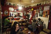 """Bela - Vinhos e Petiscos"" bar in Alfama district in Lisbon."