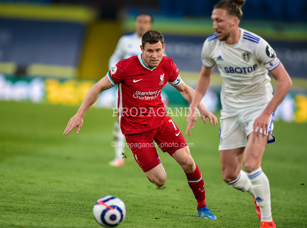 LEEDS, ENGLAND - Monday, April 19, 2021: Liverpool's James Milner during the FA Premier League match between Leeds United FC and Liverpool FC at Elland Road. (Pic by Propaganda)
