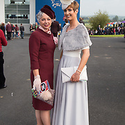 09.10.2016           <br /> Attend the Keanes Jewellers Best dressed competition at Limerick Racecourse were, Brona Mooney and Mary Davin. Picture: Alan Place