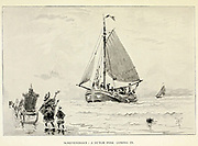 Sketch of a Dutch Pink coming in from the book ' Pen and pencil sketches of shipping and craft all round the world ' by Pritchett, Robert Taylor Published in London in 1899