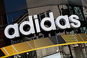 Sign for sports shop Adidas.