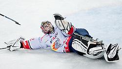 Gasper Kroselj (HK Acroni Jesenice, #32) during ice-hockey match between KHL Medvescak Zagreb and HK Acroni Jesenice in 39th Round of EBEL league, on Januar 8, 2012 at Arena Zagreb, Zagreb, Croatia. (Photo By Matic Klansek Velej / Sportida)