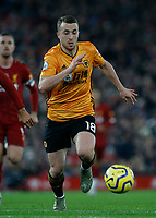 Football - 2019 / 2020 Premier League - Liverpool vs. Wolverhampton Wanderers<br /> <br /> Diogo Jota of Wolves, at Anfield.<br /> <br /> COLORSPORT/ALAN MARTIN
