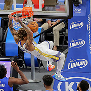 ORLANDO, FL - FEBRUARY 19:  Kelly Oubre Jr. #12 of the Golden State Warriors slam dunks the ball against the Orlando Magic during the first half at Amway Center on February 19, 2021 in Orlando, Florida. NOTE TO USER: User expressly acknowledges and agrees that, by downloading and or using this photograph, User is consenting to the terms and conditions of the Getty Images License Agreement. (Photo by Alex Menendez/Getty Images)*** Local Caption *** Kelly Oubre Jr.