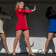 August 16, 2014, New Haven, CT:<br /> The USO Show Troupe performs during Military Night on day four of the 2014 Connecticut Open at the Yale University Tennis Center in New Haven, Connecticut Monday, August 18, 2014.<br /> (Photo by Billie Weiss/Connecticut Open)
