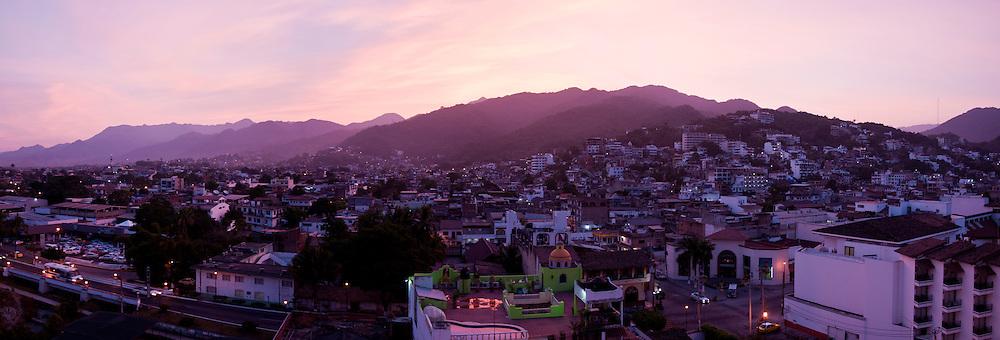 Puerto Vallarta, Mexico at dawn on Thanksgiving day, Thursday Nov. 25, 2010.  (Photo/William Byrne Drumm)