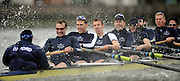 Putney, GREAT BRITAIN,  OUBC blue boat during the pre Boat Race fixture, Oxford University BC vs USA [Select]  M8+.  08/03/2008. [Mandatory Credit, Peter Spurrier/Intersport-images].OUBC crew right to left,  Bow Jan HERZOG, 2. Toby MEDARIS, 3. Ben SMITH, 4. Aaron MARCOVY, 5. Micheal WHERLEY, 6. Oliver MOORE, 7. Charles COLE,  Str. William ENGLAND Cox Nicholas BRODIE. Varsity Boat Race, Rowing Course: River Thames, Championship course, Putney to Mortlake 4.25 Miles,