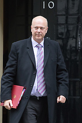 Downing Street, London, November 15th 2016.  Transport Secretary Chris Grayling leaves Downing Street following the weekly cabinet meeting.
