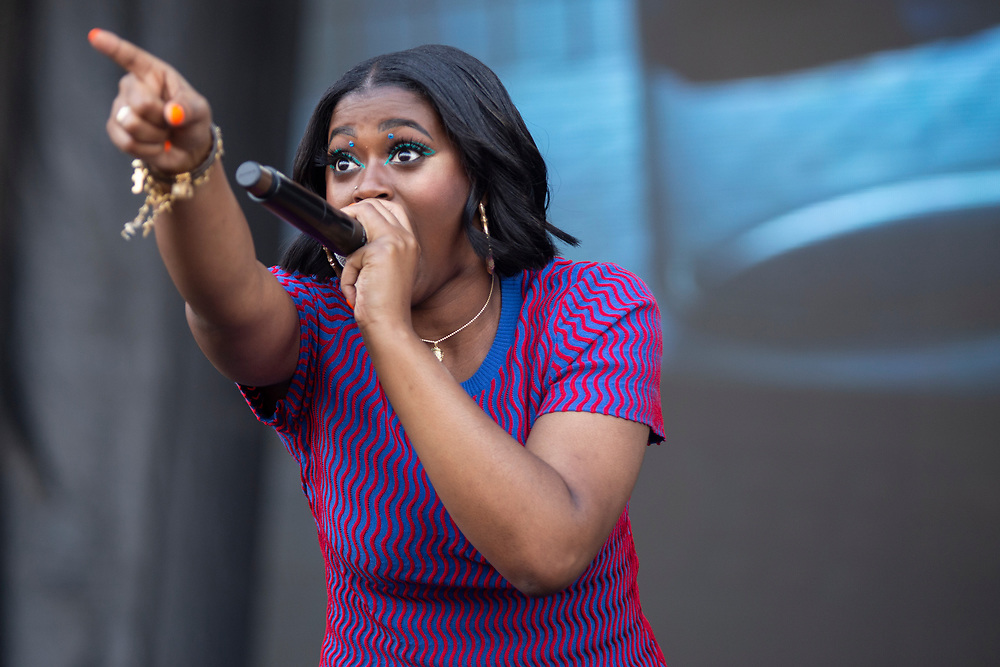 Tierra Whack performing at the Austin City Limits Music Festival in Austin, TX on October 5, 2019.