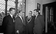 Opening of Kilkenny Design Workshop. Paul P. Hogan, Director; W.M. Walsh, Chairman; Alderman M.J. McGuinness, Mayor of Kilkenny; and Deputy John Gibbins, Parlimentary Secretary to hte Department of Finance..15.11.1965