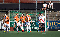 AMSTELVEEN  - Hockey -  1e wedstrijd halve finale Play Offs dames.  Amsterdam-Bloemendaal (5-5), Bl'daal wint na shoot outs.Bloemendaal heeft gescoord.   COPYRIGHT KOEN SUYK