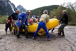 Rafting expedition down the Taku River, Northern B.C.