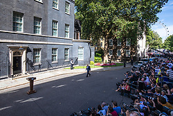 © Licensed to London News Pictures. 24/07/2019. London, UK. Boris Johnson walks up Downing Street for the first time as Prime Minister. Photo credit: Rob Pinney/LNP