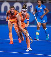 TOKIO -  Eva de Goede (C) (NED)  tijdens de wedstrijd dames , Nederland-India (5-1) tijdens de Olympische Spelen   .   COPYRIGHT KOEN SUYK