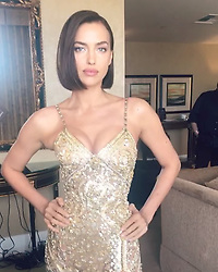 "Irina Shayk releases a photo on Instagram with the following caption: ""Zip ya corset for 2019\ud83c\udf1f @versace @donatella_versace Love u\ud83d\udc9b\ud83d\udc9b Fresh Major hair by fab hair team @harryjoshhair @jacobrozenberg @merriadearman! Thank u @ttmakarova @luciodirosa @alikavoussi \ud83d\udcab"". Photo Credit: Instagram *** No USA Distribution *** For Editorial Use Only *** Not to be Published in Books or Photo Books ***  Please note: Fees charged by the agency are for the agency's services only, and do not, nor are they intended to, convey to the user any ownership of Copyright or License in the material. The agency does not claim any ownership including but not limited to Copyright or License in the attached material. By publishing this material you expressly agree to indemnify and to hold the agency and its directors, shareholders and employees harmless from any loss, claims, damages, demands, expenses (including legal fees), or any causes of action or allegation against the agency arising out of or connected in any way with publication of the material."