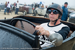 Mark McCann of Colorado in his 1928 Ford Roadster stages at the start of TROG West - The Race of Gentlemen. Pismo Beach, CA, USA. Saturday October 15, 2016. Photography ©2016 Michael Lichter.