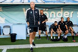 August 1, 2018 - MalmÅ, Sweden - 180801 Head coach Uwe RÅ¡sler of MalmÅ¡ FF during the UEFA Champions League qualifying match between MalmÅ¡ FF and Cluj on August 1, 2018 in MalmÅ¡..Photo: Ludvig Thunman / BILDBYRN / kod LT / 35511 (Credit Image: © Ludvig Thunman/Bildbyran via ZUMA Press)