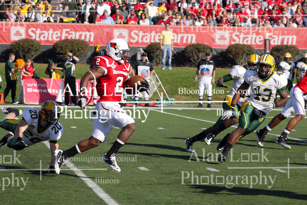 16 October 2010:   E.J. Jones during a game where the North Dakota State Bison lost to the Illinois State Redbirds 34-24, meeting at Hancock Stadium on the campus of Illinois State University in Normal Illinois.