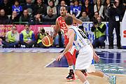 DESCRIZIONE : Campionato 2014/15 Dinamo Banco di Sardegna Sassari - Giorgio Tesi Group Pistoia<br /> GIOCATORE : Langson Hall<br /> CATEGORIA : Palleggio<br /> SQUADRA : Giorgio Tesi Group Pistoia<br /> EVENTO : LegaBasket Serie A Beko 2014/2015<br /> GARA : Dinamo Banco di Sardegna Sassari - Giorgio Tesi Group Pistoia<br /> DATA : 01/02/2015<br /> SPORT : Pallacanestro <br /> AUTORE : Agenzia Ciamillo-Castoria / Luigi Canu<br /> Galleria : LegaBasket Serie A Beko 2014/2015<br /> Fotonotizia : Campionato 2014/15 Dinamo Banco di Sardegna Sassari - Giorgio Tesi Group Pistoia<br /> Predefinita :
