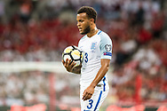 (3) Ryan Bertrand during the FIFA World Cup Qualifier match between England and Slovakia at Wembley Stadium, London, England on 4 September 2017. Photo by Sebastian Frej.