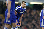John Terry, the Chelsea captain looks on. Barclays Premier league match, Chelsea v Newcastle Utd at Stamford Bridge in London on Saturday 13th February 2016.<br /> pic by John Patrick Fletcher, Andrew Orchard sports photography.