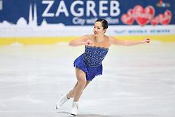 05.12.2015, Dom Sportova, Zagreb, CRO, ISU, Golden Spin of Zagreb, freies Programm, Damen, im Bild Angela Wang, USA. // during the 48th Golden Spin of Zagreb 2015 ladys Free Program of ISU at the Dom Sportova in Zagreb, Croatia on 2015/12/05. EXPA Pictures © 2015, PhotoCredit: EXPA/ Pixsell/ Davor Puklavec<br /> <br /> *****ATTENTION - for AUT, SLO, SUI, SWE, ITA, FRA only*****