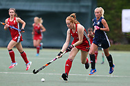 Danni Jordan of Wales in action. Belarus v Wales, EuroHockey 11 Women's championshp 2017 in Cardiff, South Wales , Wednesday 9th August 2017<br /> pic by Andrew Orchard