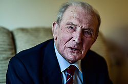 """EMBARGOED TO 2230 FRIDAY JUNE 16 File photo dated 05/01/17 of George """"Johnny"""" Johnson, 95, Britain's last surviving Dambuster, who has been awarded an MBE in the Queen's Birthday Honours, and has said he is very grateful to the thousands of people who signed a petition calling for his wartime service to be recognised."""