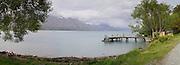 Panoramic view, Kinloch Lodge, Kinloch, Otago, New Zealand