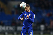 Joe Bennett of Cardiff City in action. EFL Skybet championship match, Cardiff city v Barnsley at the Cardiff city stadium in Cardiff, South Wales on Tuesday 6th March 2018.<br /> pic by Andrew Orchard, Andrew Orchard sports photography.