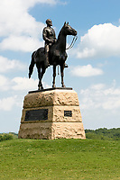 memorial for Maj. General George Meade, Gettysburg National Military Park, Pennsylvania, USA.