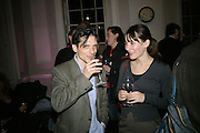 JEREMY DELLER, Opening of a new exhibition of collages by John Stezaker at The Approach W1. 74 Mortimer st. and afterwards at the House of St-Barnabas-in-Soho. Greek st. London. 21 November 2007. -DO NOT ARCHIVE-© Copyright Photograph by Dafydd Jones. 248 Clapham Rd. London SW9 0PZ. Tel 0207 820 0771. www.dafjones.com.