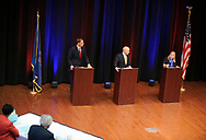 PBS39 hosts a debate between candidates for Pennsylvania's new 7th Congressional District including democrat Susan Wild, republican Marty Nothstein and libertarian Tim Silfies on Oct. 23, 2018, at Northampton Community College in Bethlehem Township, Pennsylvania.