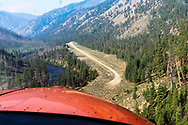 Airstrip along the edge of the Middle Fork of the Salmon River.  Frank Church WIlderness, Idaho, USA