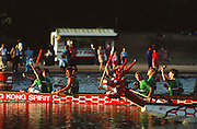 London, GREAT BRITAIN,   Dragon Boat's on the Serpentine Lake in London's Hyde Park [Photo Peter Spurrier/Intersport-images]