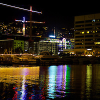 S. Lake Union at night - lights on the water