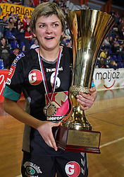 Olena Yatsenko of Krim at handball game ZRK Celje Celjske Mesnine vs RK Krim Mercator in final match of Slovenian Handball Cup,  on April 6, 2008 in Arena Golovec, Celje, Slovenia. Krim won the game 31:21 and became Cup Winner.  (Photo by Vid Ponikvar / Sportal Images)