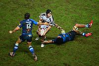 Hugh PYLE / Piula FAASALELE - 09.01.2015 - Stade Francais / Castres - 16eme journee de Top 14<br />Photo : Dave Winter / Icon Sport