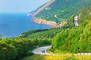 Winding Cabot Trail<br /> CApe Bretom Highlands National Park<br /> Nova Scotia<br /> Canada