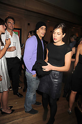 ALEX DELLAL and CHARLOTTE CASIRAGHI at a party to celebrate the launch of Hollywood Domino - a brand new board game, held at Mosimann's 11b West Halkin Street, London on 7th November 2008.  The evening was in aid of Charlize Theron's Africa Outreach Project.