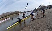 Putney, London,  Tideway Week, Championship Course. River Thames, OUBC. Boating from Putney Hard [Foreshore] Thames RC.<br /> <br /> Thursday,  30.03.2017<br /> [Mandatory Credit; Credit: Peter SPURRIER/Intersport Images.com ]