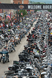 Main Street in Sturgis during the 75th Annual Sturgis Black Hills Motorcycle Rally.  SD, USA.  August 3, 2015.  Photography ©2015 Michael Lichter.