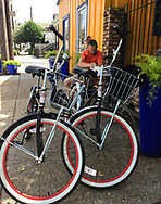 Biking is a nice way to discover the city also. Photo by Anne-Marie.