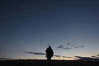 Opening day of bison hunting on the National Elk Refuge