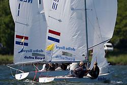 Medemblik - the Netherlands, May 29th 2009. Delta Lloyd Regatta in Medemblik (27/31 May 2009). Day 3. Annelies Thies.