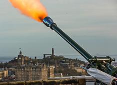 21-gun salute for the Queen, Edinburgh Castle, 6 February 2019