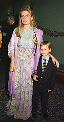 LADY FORTE and her son MR CHARLES FORTE, at a ball in London on 25th May 1999.MSM 45